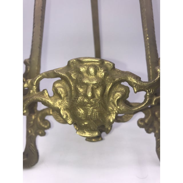 Brass Early 20th Century Antique Gothic Brass Book Stand For Sale - Image 7 of 9