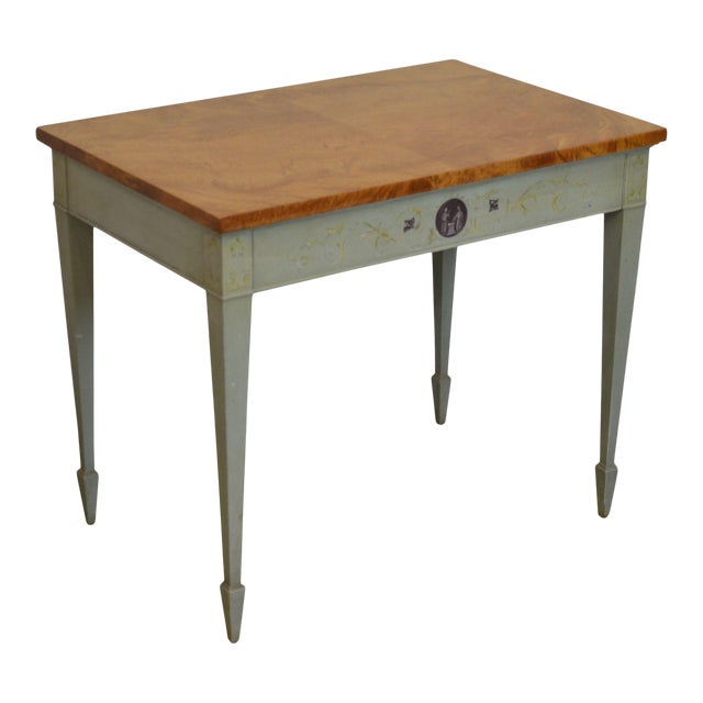 Schmieg & Kotzian Adams Hand Painted One Drawer Side Table For Sale