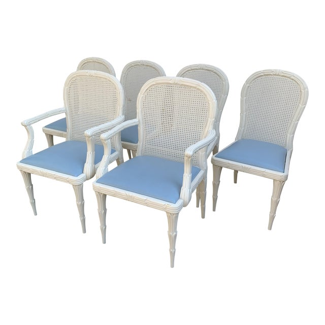 Serge Roche Style Dining Chairs - Set of 6 For Sale