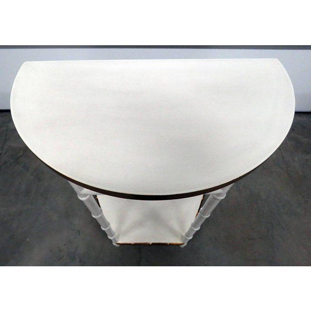Asian Modern Design Demilune Console Table For Sale - Image 4 of 9