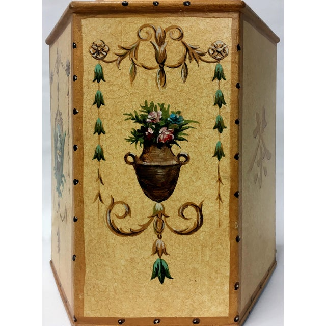 Vintage Chinese Export English Tea Caddy Lamps For Sale - Image 10 of 13