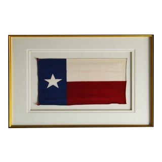 Vintage Framed Texas State Flag For Sale