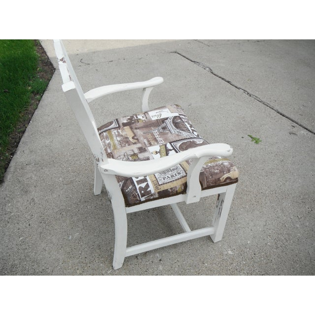 Shabby Chic Chippendale Style Captains Chair - Image 5 of 8