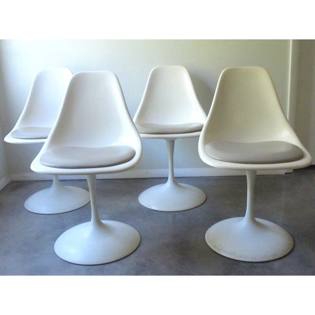 Mid-Century Tulip Burke Dining Swivel Chairs - S/4 - Image 2 of 9
