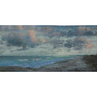"Van Cleve Oil Painting ""Cloudy Afternoon"", Contemporary Small Seascape For Sale"