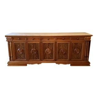 Italian Buffet With Marble Top For Sale