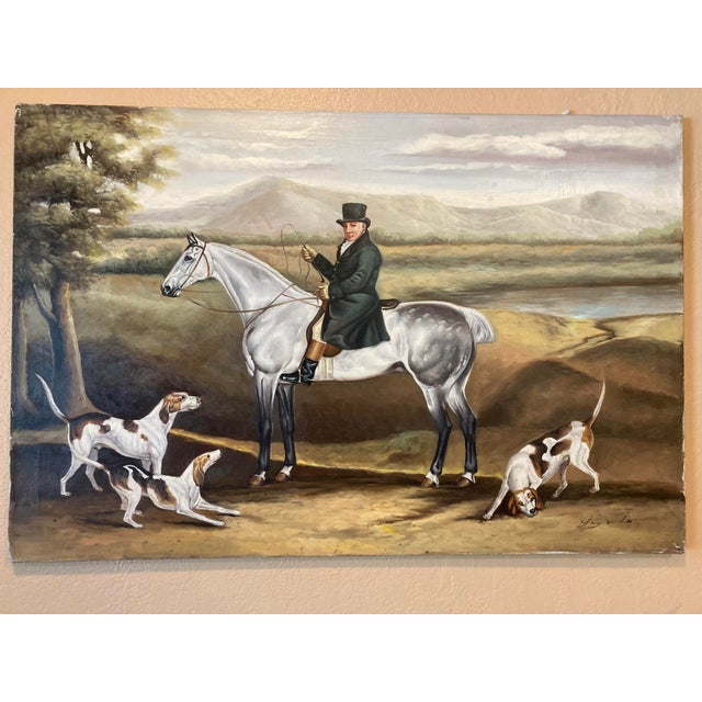 """The French Herder"" Signed Oil on Canvas Painting For Sale - Image 4 of 4"