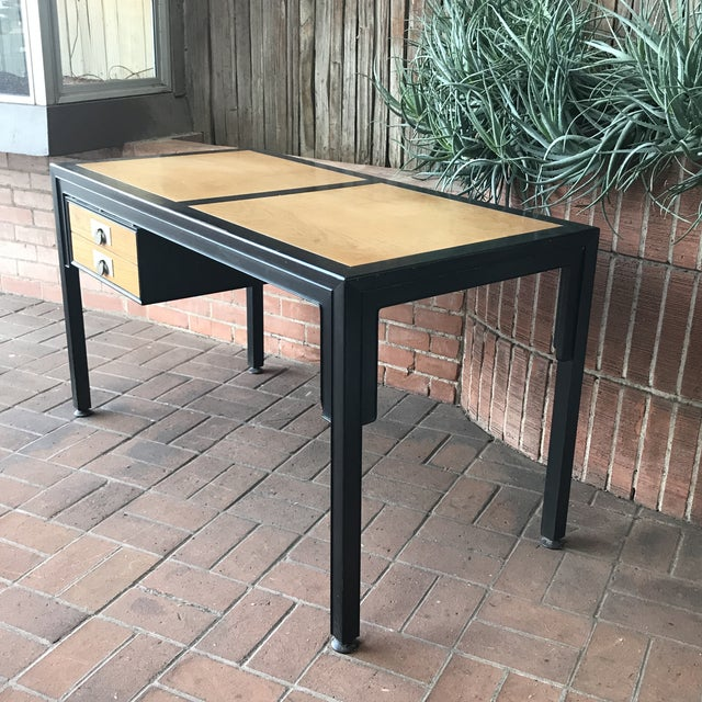 Metal Mid-Century Modern Desk by Michael Taylor for Baker Furniture Company For Sale - Image 7 of 10