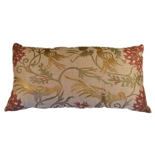 Chinese Flowers Sateen Linen Pillow Cover For Sale