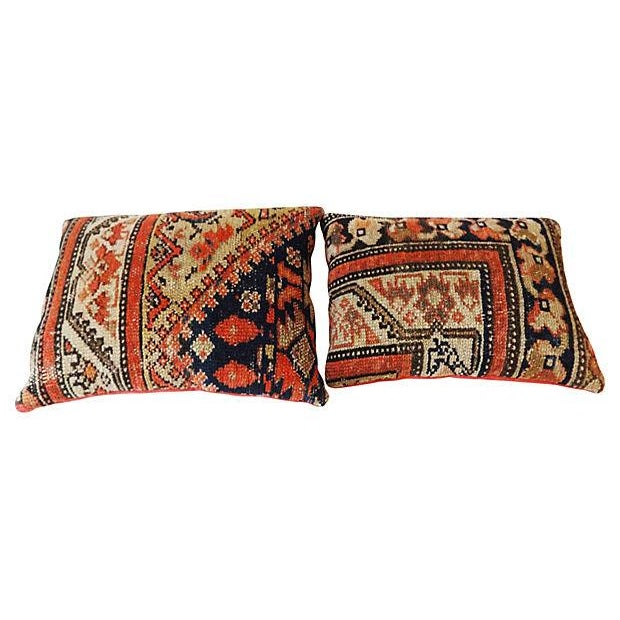 Ferahan Rug Fragment Pillows - Pair - Image 7 of 7