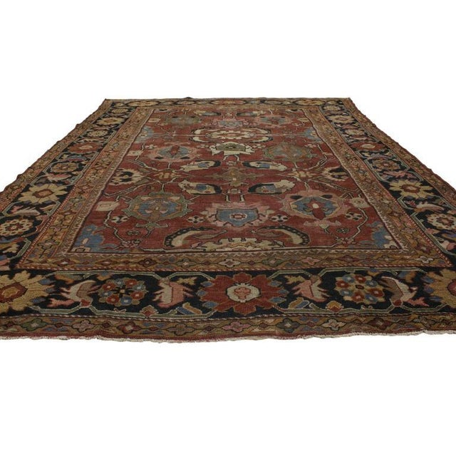 Asian Antique Persian Sultanabad Rug with Traditional Modern Style For Sale - Image 3 of 8