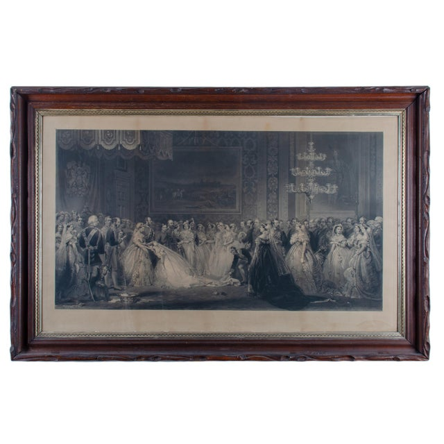 Mid 19th Century Antique Queen Victoria Drawing Room at St. James's Palace Engraving Print For Sale In Savannah - Image 6 of 6
