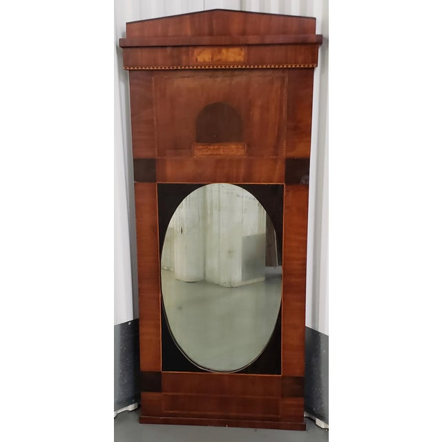 Black Early 19th Century Walnut & Mahogany Biedermeier Mirror C.1830s For Sale - Image 8 of 8