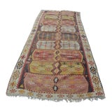 Image of Oversize Handmade Floor Turkish Kilim Rug - 4′7″ × 10′9″ For Sale