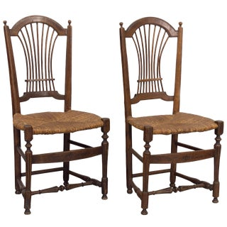 Pair of 19th Century French Country Chairs For Sale