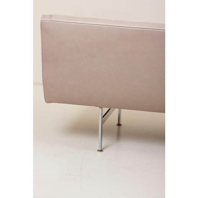 Tufted Sofa in Grey Leather by Milo Baughman for Thayer Coggin For Sale - Image 6 of 13
