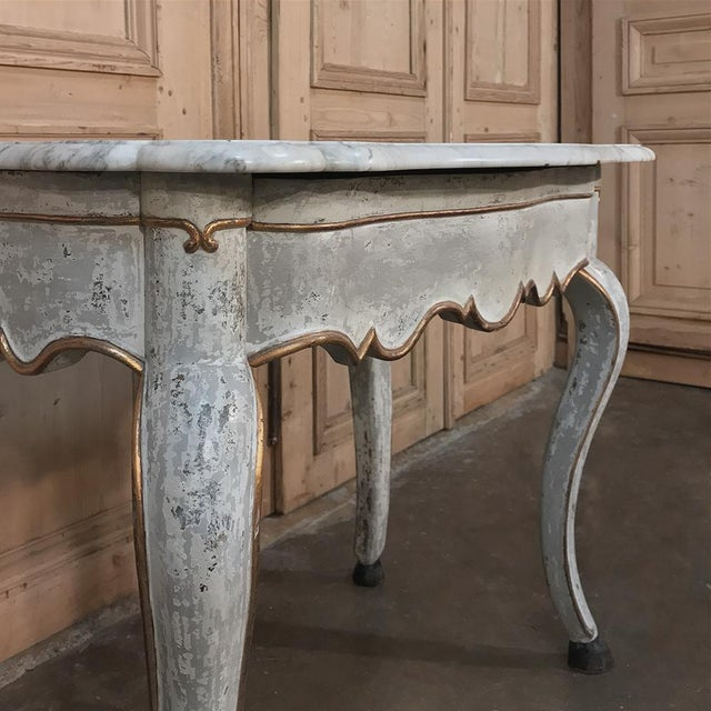 19th Century Swedish Painted Marble Top Console For Sale - Image 11 of 13