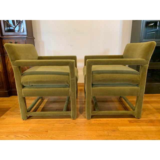 Late 20th Century Late 20th Century Baughman Style Armchairs- A Pair For Sale - Image 5 of 9