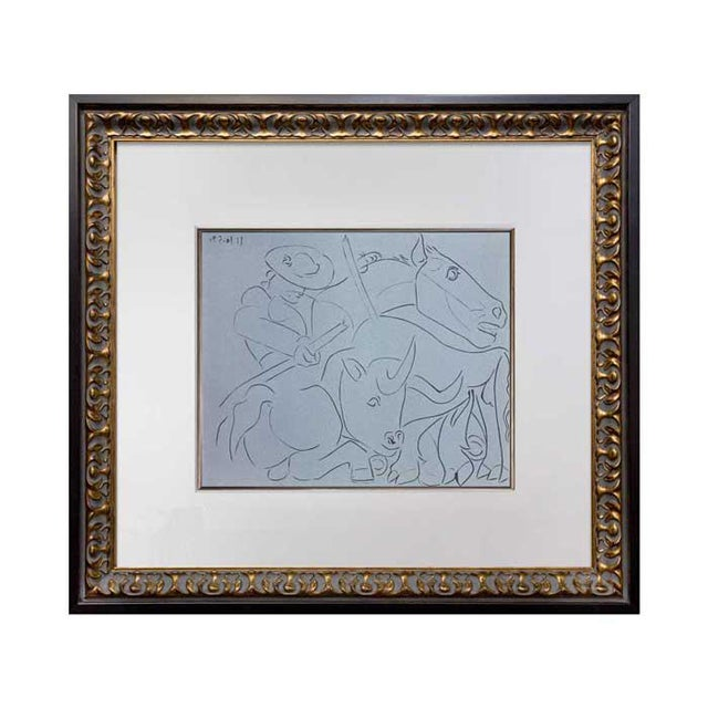 1960s 1962 Pablo Picasso Limited Edition Linocut Print For Sale - Image 5 of 5