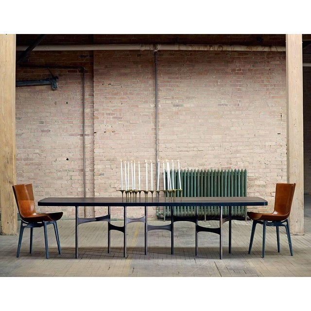 Link Dining Table Wood and Steel by AKMD Collection For Sale In Chicago - Image 6 of 9