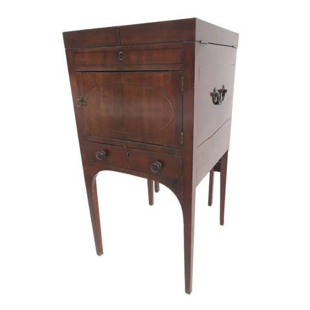English Mahogany Enclosed Lift Top Dressing Stand For Sale - Image 10 of 10