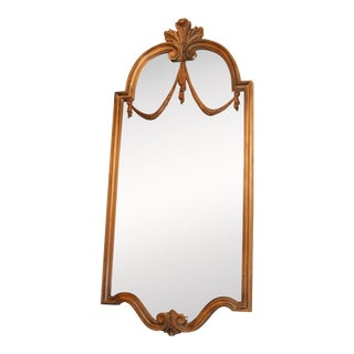 La Barge French Style Carved Wood Wall Mirror For Sale