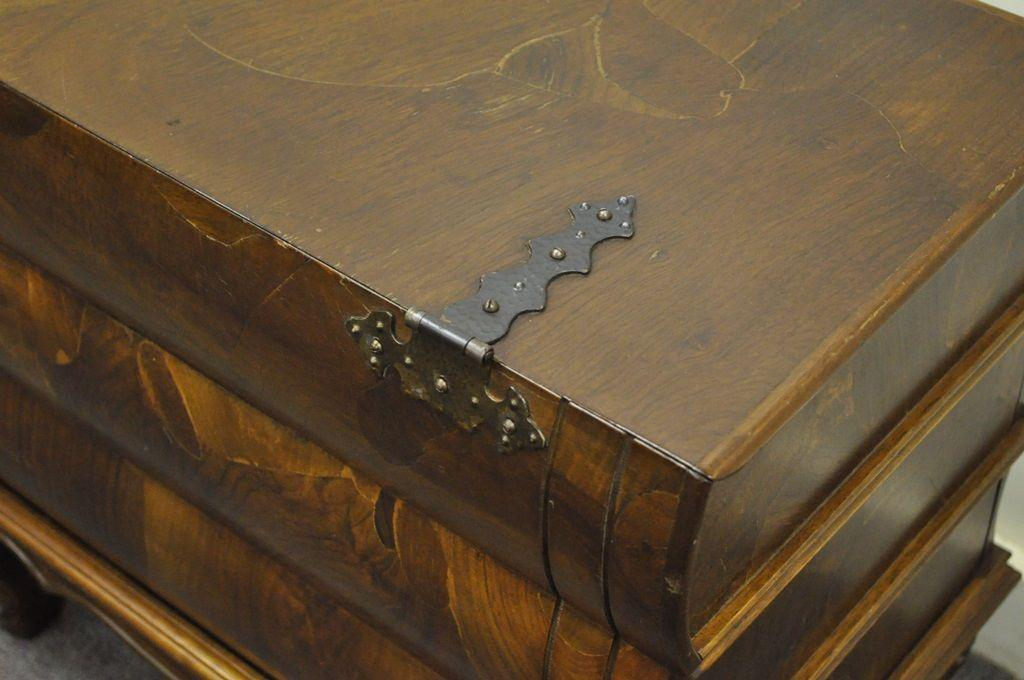Vintage Italian Patchwork Burl Olive Wood Book Form Side Table Chest  Bambergeru0027s For Sale   Image