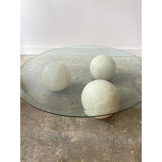 Ettore Sottsass Memphis Style Marble and Glass Top Coffee Table For Sale - Image 4 of 13