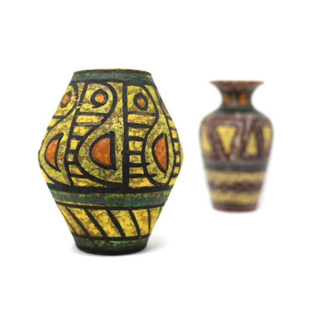 Mid Century Italian Terra Cotta Vases A Pair Chairish