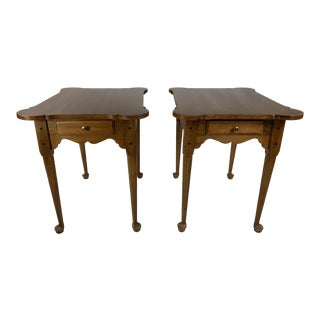 1970s Queen Anne Ethan Allen Side Tables - a Pair For Sale