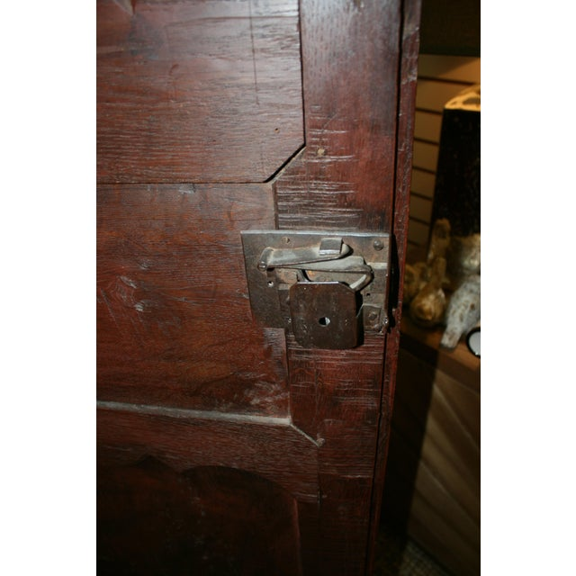 Wood English Hand Carved Armoire For Sale - Image 7 of 9
