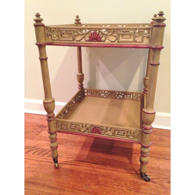 Widdicomb Chinese Chippendale Tea Table - Image 3 of 4