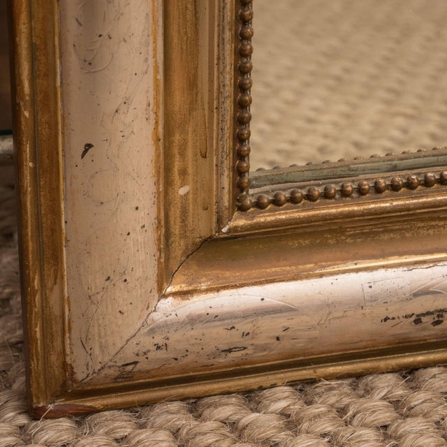 Giltwood and Silvered Louis Philippe Mirror For Sale In New York - Image 6 of 8