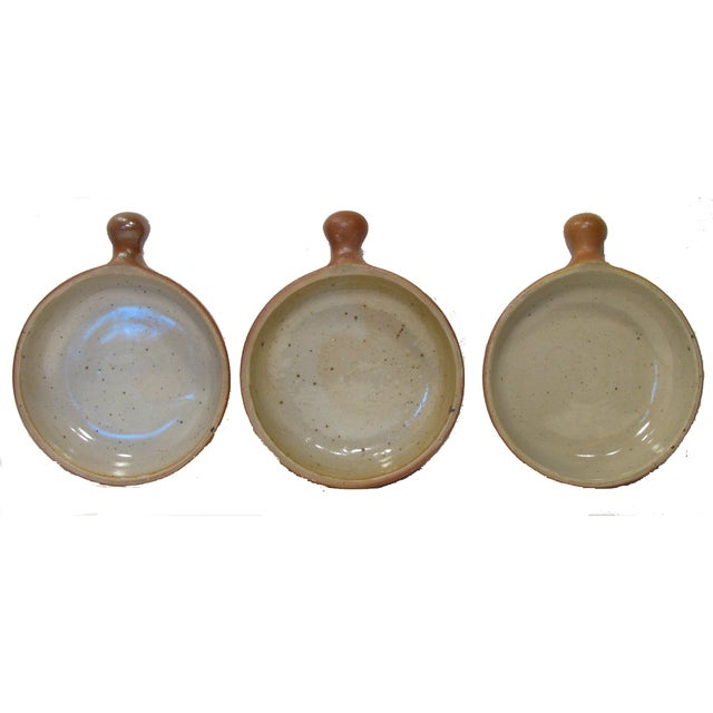 Vintage French Stoneware Ramekins - Set of 3 - Image 2 of 5