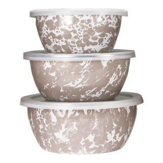 Nesting Bowls Taupe Swirl - Set of 3 For Sale