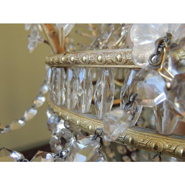 Gold Early 20th C French Bronze and Crystal Chandelier For Sale - Image 8 of 8