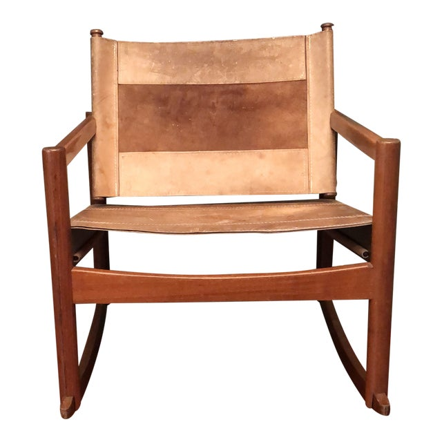 1950s Vintage Michael Arnoult Sling Chair Rocker For Sale