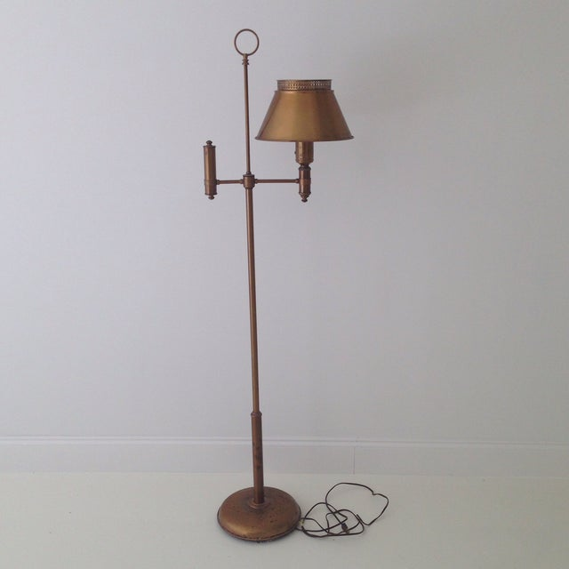 Brass Colored Tole Floor Lamp - Image 11 of 11