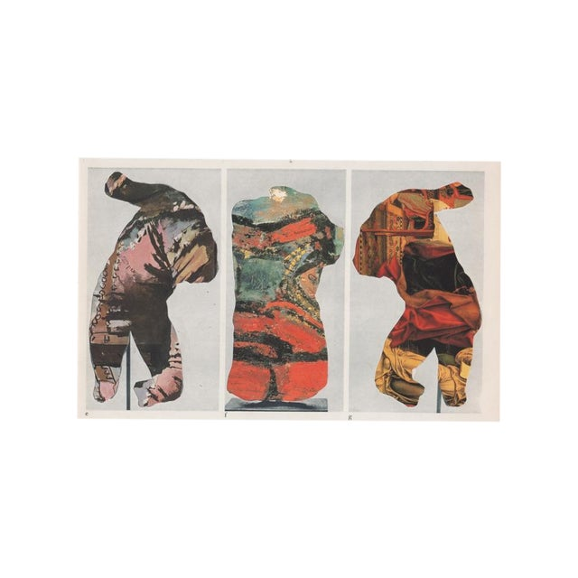 Ray Beldner Figural Triptych Collage - Image 2 of 5
