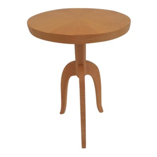 Todd Hase Sycamore Marquetry Gueridon Table For Sale