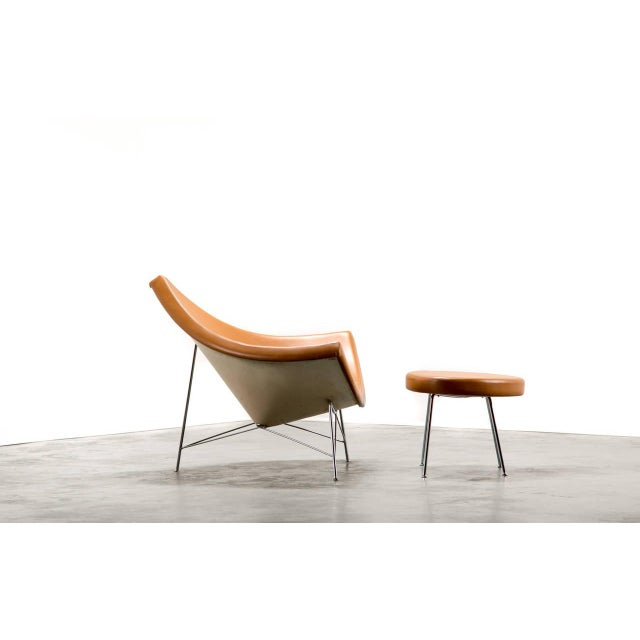 Mid-Century Modern 1950s George Nelson for Herman Miller Coconut Chair and Ottoman For Sale - Image 3 of 5