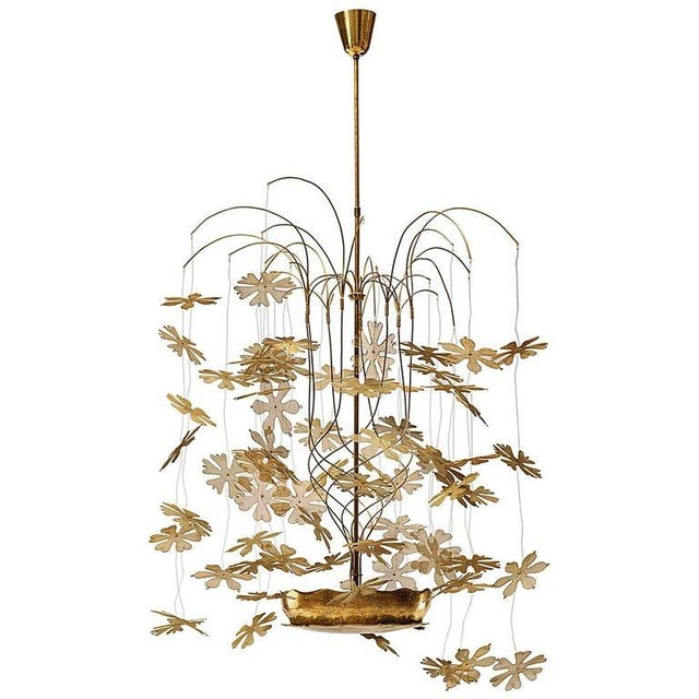 Rare and Important Paavo Tynell 'Fantasia' Snowflake Chandelier for Taito Oy For Sale - Image 12 of 12