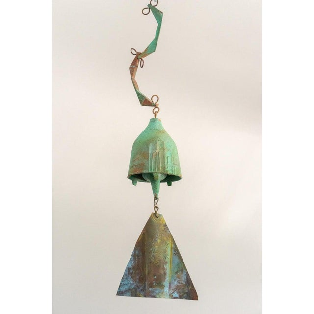1950s Mid-Century Modern Brutalist Bronze Wind Chime by Paolo Soleri For Sale - Image 5 of 12