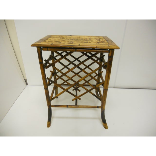 Vintage Bamboo Wine Rack - Image 2 of 4