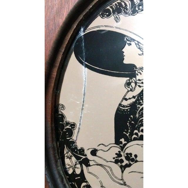 "Antique ""Fair Lady"" Mirrored Medicine Cabinet - Image 7 of 8"