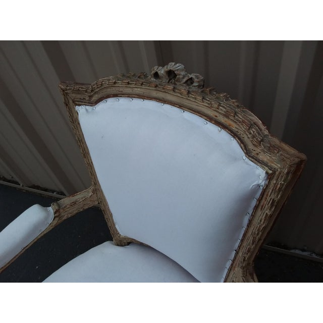 French 18th Century French Antique Armchair For Sale - Image 3 of 8