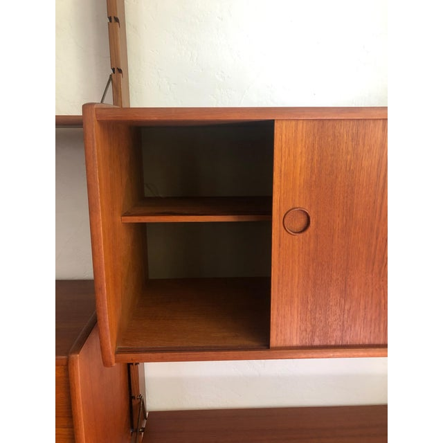 Mid Century Teak Free Standing Wall Unit by Blindheim Møbelfabrikk For Sale - Image 4 of 13
