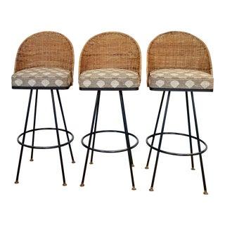 Mid-Century Arthur Umanoff Style Barstools - Set of 3