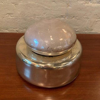 1960s Georg Jensen Mercury Glass Bowl With Lid Preview