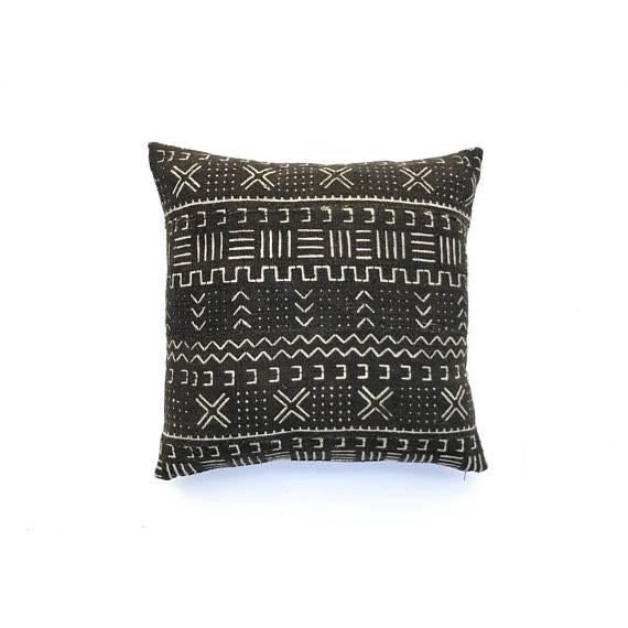 mudcloth pillow cover 20 x 20 chairish. Black Bedroom Furniture Sets. Home Design Ideas